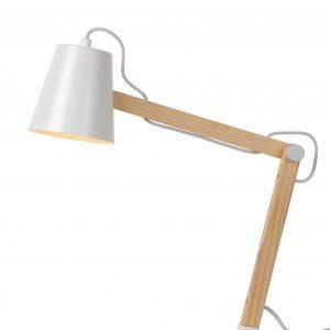 Lampka na biurko, śr. 12.5cm, biała