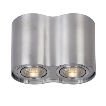 Podwójna lampa sufitowa, sz. 19.5cm, srebrna