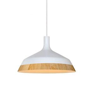 Aluminiowa lampa wisząca do kuchni, śr. 35cm, biała