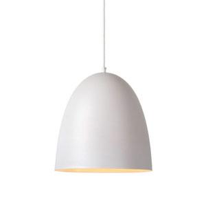 Głęboka lampa wisząca do kuchni, śr. 30cm, biała