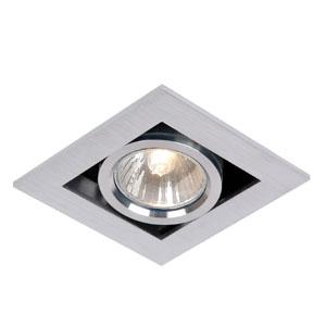 Lampa sufitowa halogenowa, sz. 9cm, satynowy chrom