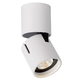 Lampa sufitowa regulowana, śr. 7cm, biała
