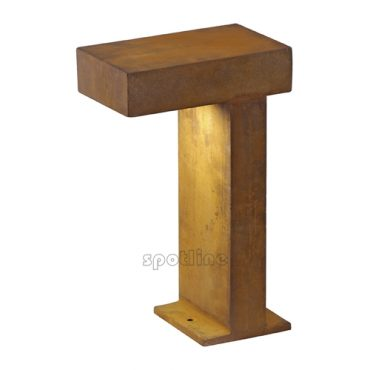 """Stalowa lampa ogrodowa, sz. 15cm, kolor """"rdza"""""""