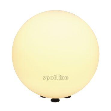 Okrągła lampa wolnostojąca, śr. 40cm, biała