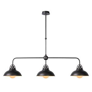Metalowe wiszące lampy do kuchni, śr. 26cm, szare