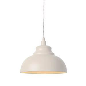 Lampa wisząca do kuchni, śr. 29cm, kremowa