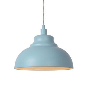 Lampa wisząca do kuchni, śr. 29cm, niebieska