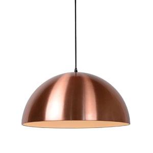 Lampa metalowa, śr. 50cm, miedziana