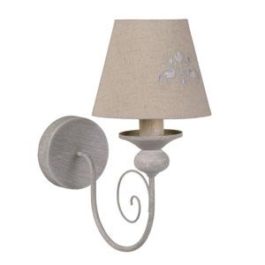 Lampa ścienna, sz. 26.7cm, szarobrązowa