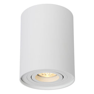 Lampa sufitowa w kształcie tuby, śr. 9.5cm, biała