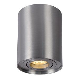 Lampa sufitowa w kształcie tuby, śr. 9.5cm, satynowy chrom
