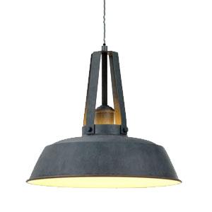 Metalowa lampa wisząca do kuchni, śr. 35cm, szara
