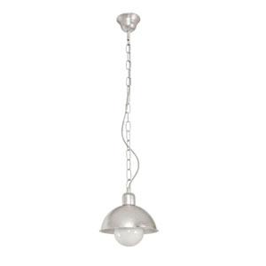 Lampa wisząca do salonu, śr. 19cm, srebrna