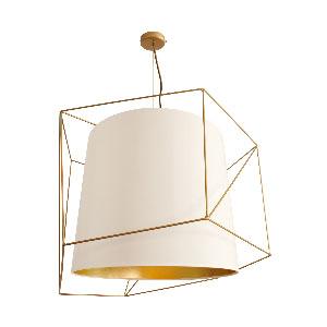 Dekoracyjna lampa wisząca, sz. 67cm, biała