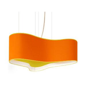Lampa Wave pomarańczowa