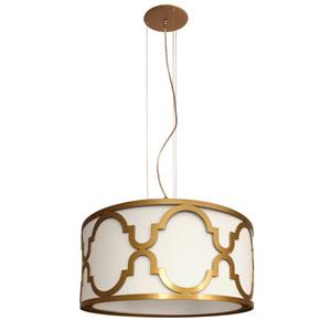 Lampa dekoracyjna, śr. 52cm, biało-złota