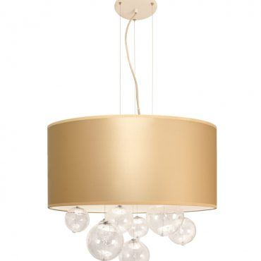 Wisząca lampa do salonu, BUBBLES śr 50cm, złota